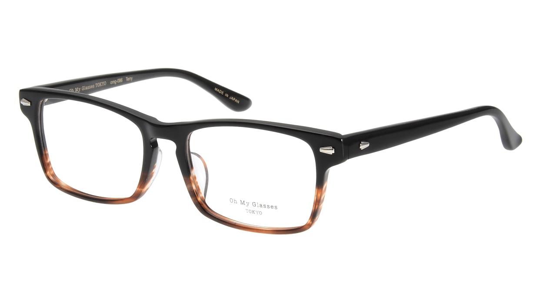 Oh My Glasses TOKYO Terry omg-086-2-53 [黒縁/鯖江産/ウェリントン]