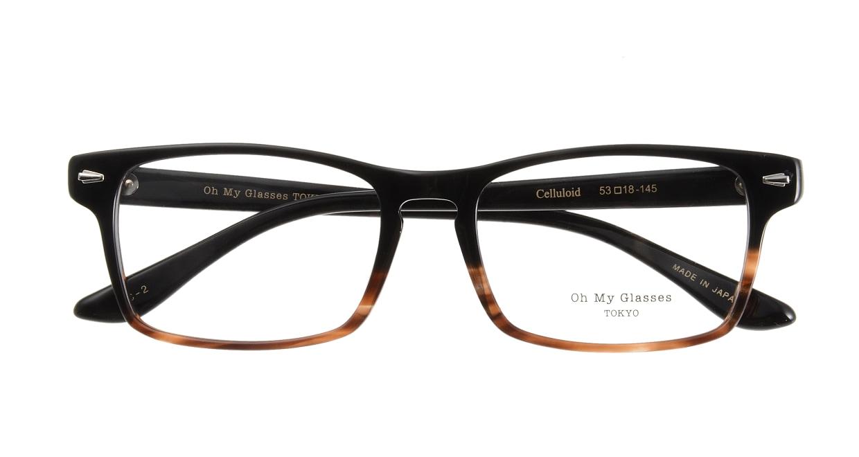 Oh My Glasses TOKYO Terry omg-086-2-53 [黒縁/鯖江産/ウェリントン]  3