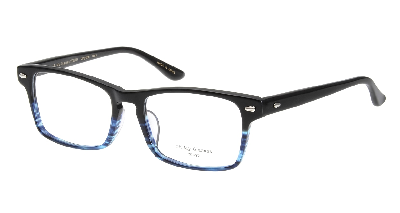 Oh My Glasses TOKYO Terry omg-086-6-53 [黒縁/鯖江産/ウェリントン]