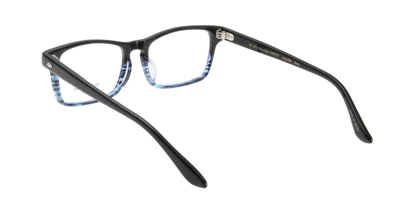 Oh My Glasses TOKYO Terry omg-086-6-53 [黒縁/鯖江産/ウェリントン]  2