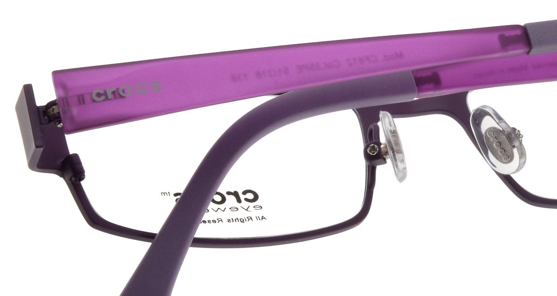 クロックスアイウェア CF612-35PE-51 [メタル/スクエア/紫]  4