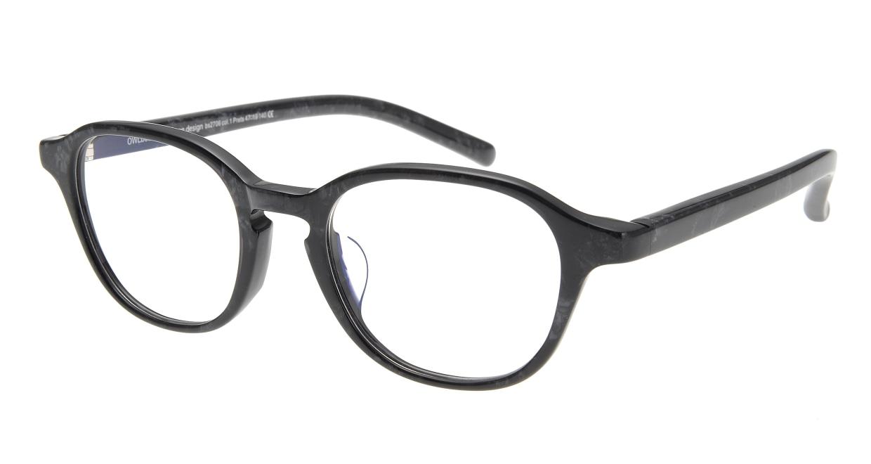 オウル boasorte Prets bs2706-1.BLACK [黒縁/丸メガネ]