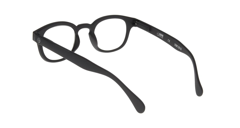イジピジ リーディンググラス PC用 +1.5 #C BLACK [老眼鏡/ブルーライトカット/黒縁/ウェリントン]  2