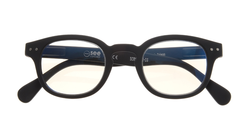 イジピジ リーディンググラス PC用 +1.5 #C BLACK [老眼鏡/ブルーライトカット/黒縁/ウェリントン]  3