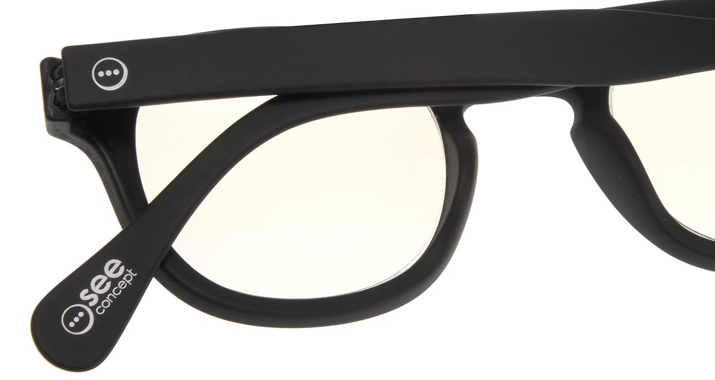 イジピジ リーディンググラス PC用 +1.5 #C BLACK [老眼鏡/ブルーライトカット/黒縁/ウェリントン]  4