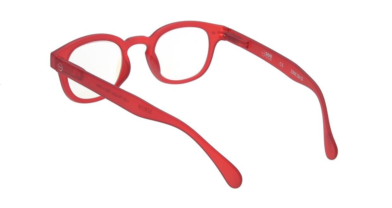 イジピジ リーディンググラス PC用 +2.0 #C RED [老眼鏡/ブルーライトカット/ウェリントン/赤]  2