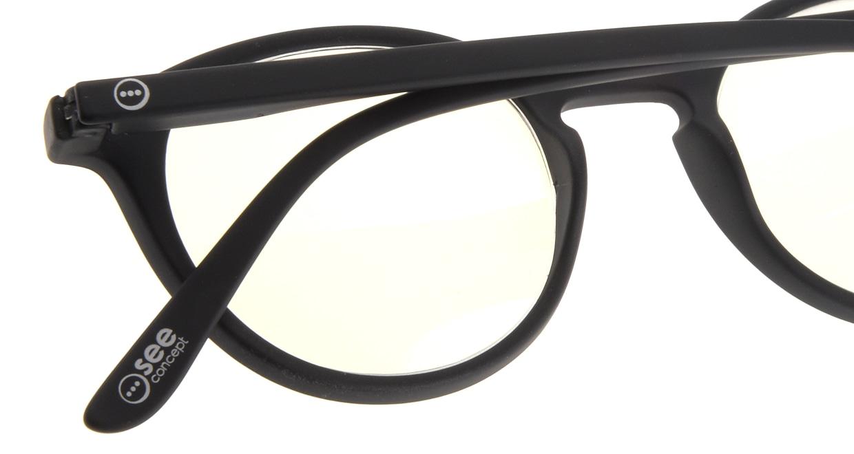イジピジ リーディンググラス PC用 +2.5 #D BLACK [老眼鏡/ブルーライトカット/黒縁/丸メガネ]  4
