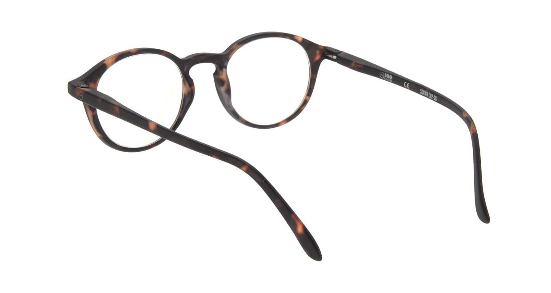 イジピジ リーディンググラス PC用 +2.5 #D TORTOISE [老眼鏡/ブルーライトカット/丸メガネ/べっ甲柄]  2