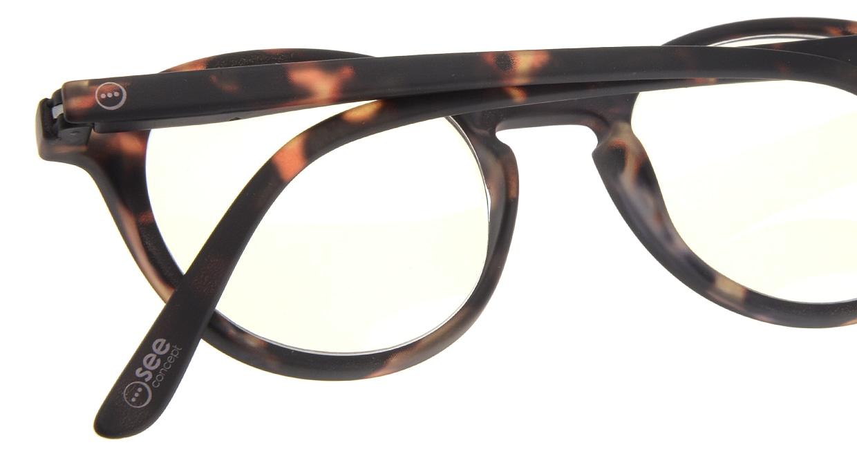 イジピジ リーディンググラス PC用 +2.5 #D TORTOISE [老眼鏡/ブルーライトカット/丸メガネ/べっ甲柄]  4