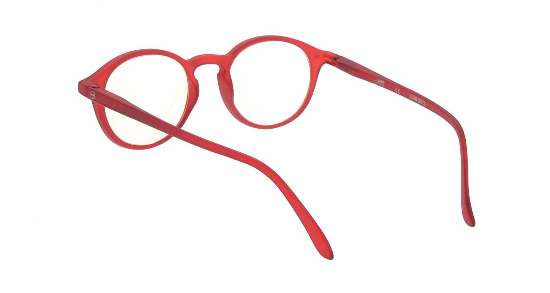 イジピジ リーディンググラス PC用 +2.5 #D RED [老眼鏡/ブルーライトカット/丸メガネ/赤]  2