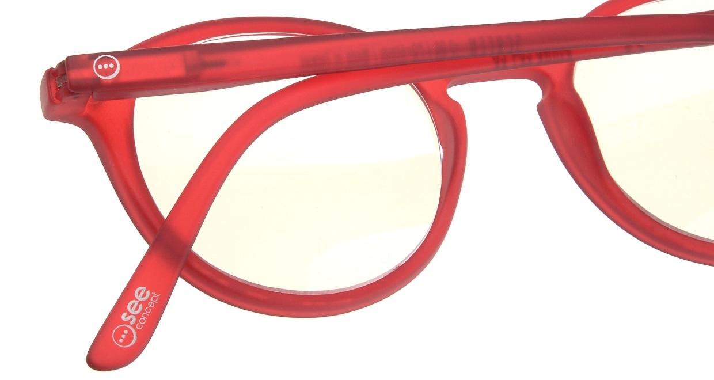 イジピジ リーディンググラス PC用 +2.5 #D RED [老眼鏡/ブルーライトカット/丸メガネ/赤]  4