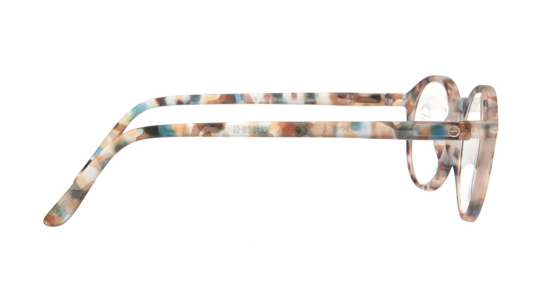 イジピジ リーディンググラス PC用 +2.0 #D BLUE TORTOISE [老眼鏡/ブルーライトカット/丸メガネ/派手]  1