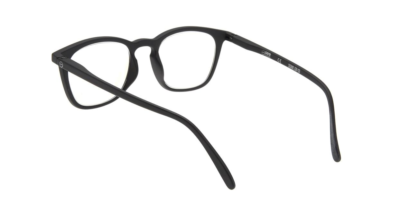 イジピジ リーディンググラス PC用 +2.0 #E BLACK [老眼鏡/ブルーライトカット/黒縁/ウェリントン]  2
