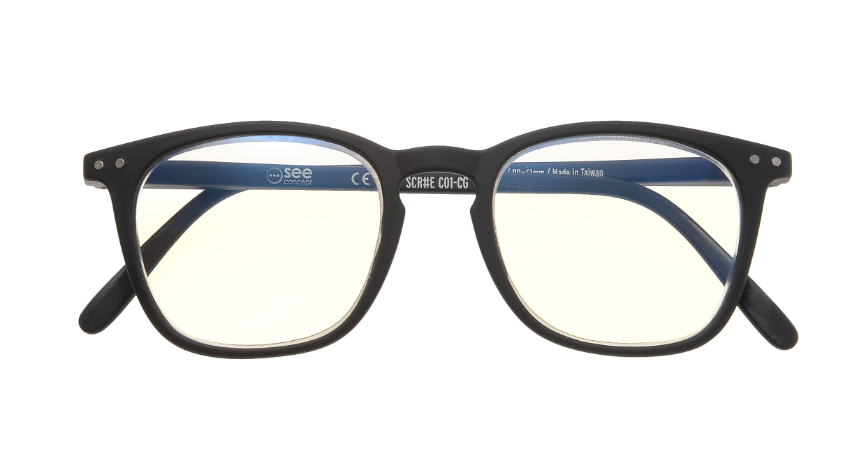 イジピジ リーディンググラス PC用 +2.0 #E BLACK [老眼鏡/ブルーライトカット/黒縁/ウェリントン]  3