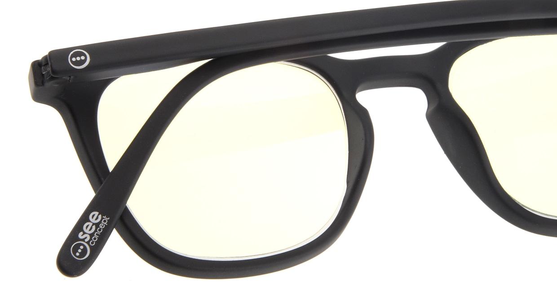 イジピジ リーディンググラス PC用 +2.0 #E BLACK [老眼鏡/ブルーライトカット/黒縁/ウェリントン]  4