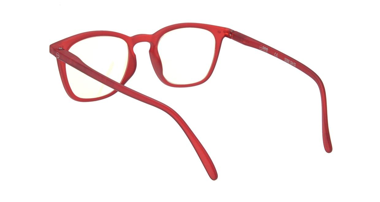イジピジ リーディンググラス PC用 +1.5 #E RED [老眼鏡/ブルーライトカット/ウェリントン/赤]  2