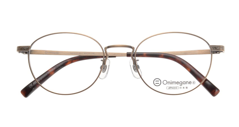 オニメガネ OG7013-AG-49 [メタル/鯖江産/丸メガネ/ゴールド]  3