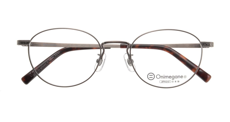 オニメガネ OG7013-AS-49 [メタル/鯖江産/丸メガネ/シルバー]  3