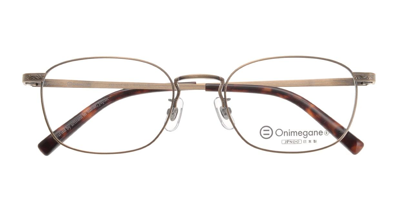 オニメガネ OG7015-AG-51 [メタル/鯖江産/ウェリントン/ゴールド]  3