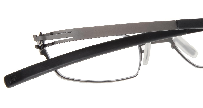 アイシーベルリン solal (flex)-graphite-rx clear [メタル/スクエア/グレー]  4