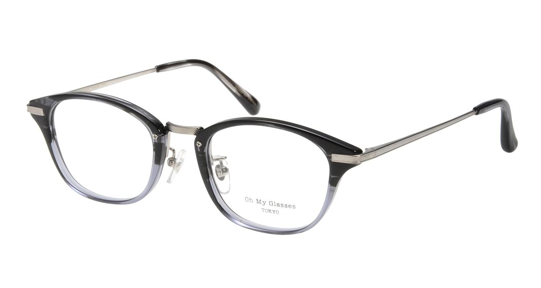 Oh My Glasses TOKYO Philip omg-054-11-48 [黒縁/鯖江産/ウェリントン]