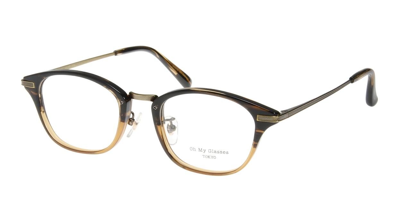 Oh My Glasses TOKYO Philip omg-054-12-48 [鯖江産/ウェリントン/茶色]