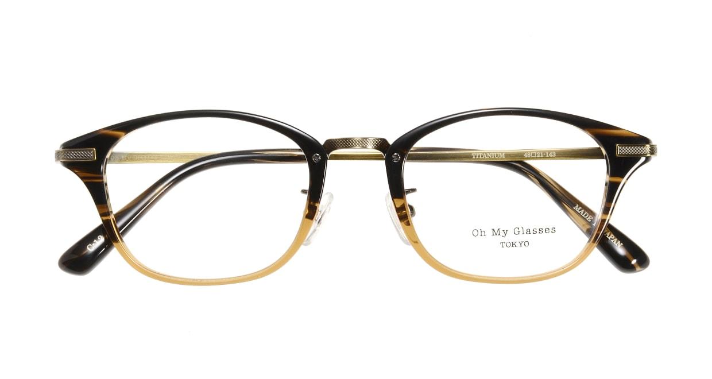 Oh My Glasses TOKYO Philip omg-054-12-48 [鯖江産/ウェリントン/茶色]  3