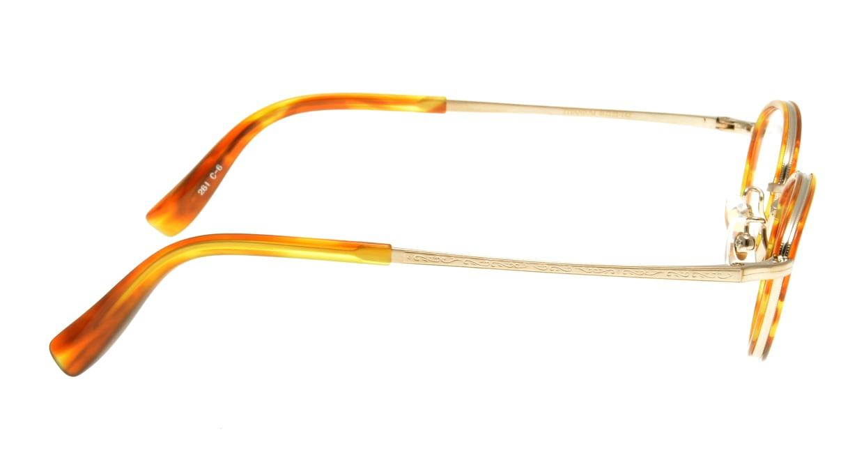 ハンドメイドアイテム H-3009-C-6-45 [鯖江産/丸メガネ/茶色]  1