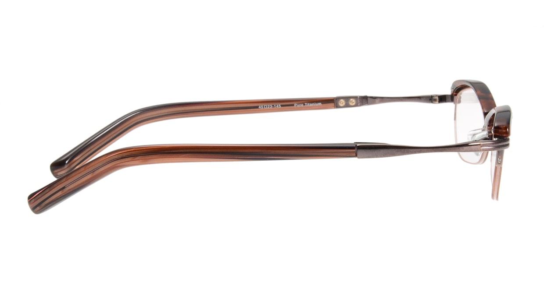 メナジェイ M094-BR-45 [鯖江産/ハーフリム/スクエア/茶色]  1