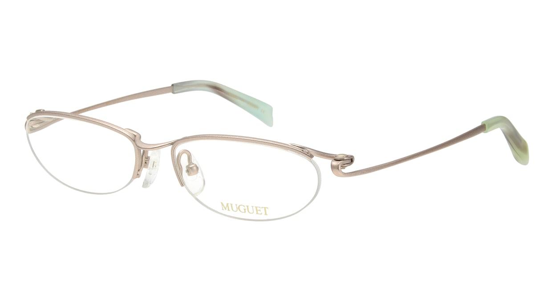 ミュウゲ MU-1017-1-51 [メタル/鯖江産/ハーフリム/オーバル/派手]