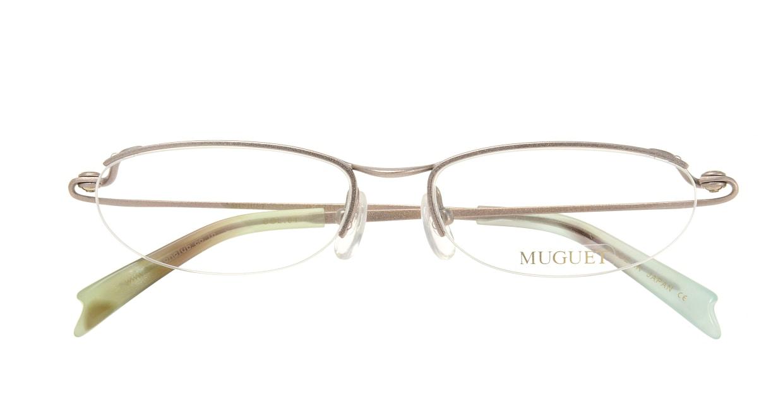 ミュウゲ MU-1017-1-51 [メタル/鯖江産/ハーフリム/オーバル/派手]  3