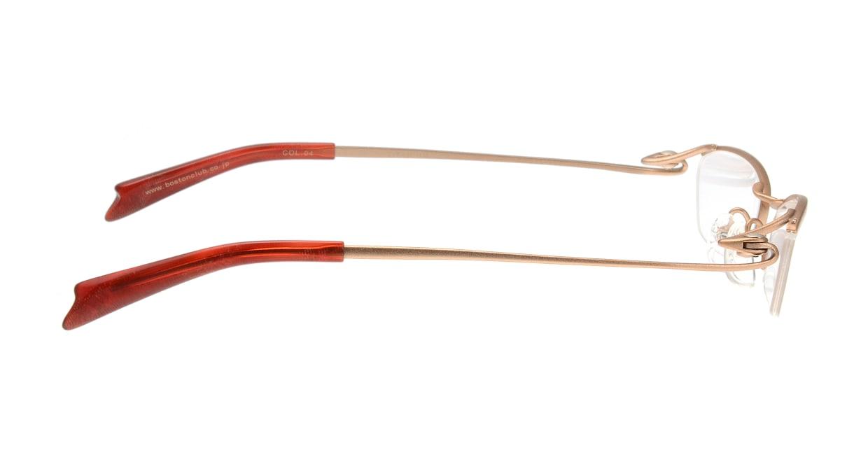 ミュウゲ MU-1018-4-50 [メタル/鯖江産/ハーフリム/スクエア/茶色]  1