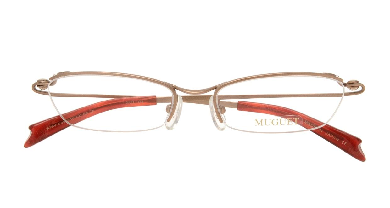 ミュウゲ MU-1018-4-50 [メタル/鯖江産/ハーフリム/スクエア/茶色]  3