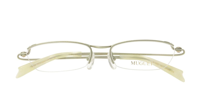 ミュウゲ MU-1018-1-50 [メタル/鯖江産/ハーフリム/スクエア/緑]  3