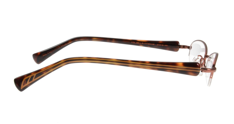ベセペセ BP-3008-3-51 [メタル/鯖江産/ハーフリム/フォックス/茶色]  1