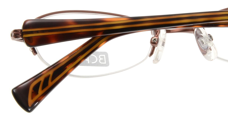ベセペセ BP-3008-3-51 [メタル/鯖江産/ハーフリム/フォックス/茶色]  4