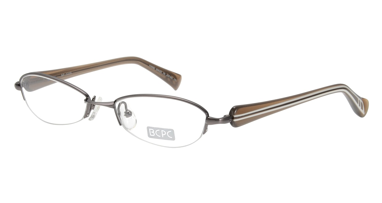 ベセペセ BP-3008-1-51 [メタル/鯖江産/ハーフリム/フォックス/茶色]