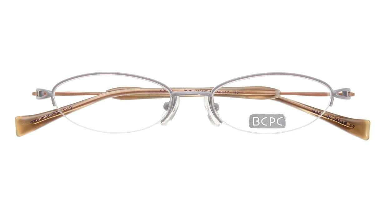 ベセペセ BP-3016-2-50 [メタル/鯖江産/ハーフリム/オーバル/グレー]  3
