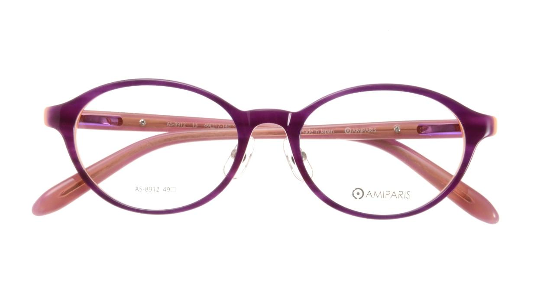 アミパリ AS-8912-13-49 [鯖江産/丸メガネ/紫]  3