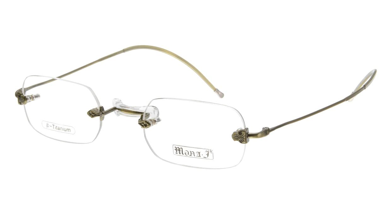 メナジェイ M-003RA-AG-43 [メタル/鯖江産/縁なし/スクエア/ゴールド]