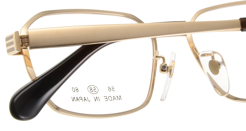 グランダム VT-305-C-1-58 [メタル/鯖江産/スクエア/ゴールド]  4