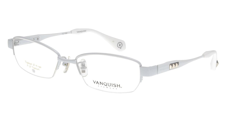 ヴァンキッシュ VQ-1048-C-2-WH [メタル/ハーフリム/スクエア/白]