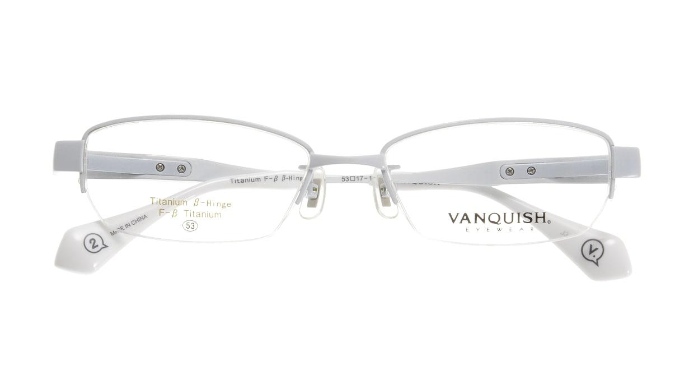 ヴァンキッシュ VQ-1048-C-2-WH [メタル/ハーフリム/スクエア/白]  3