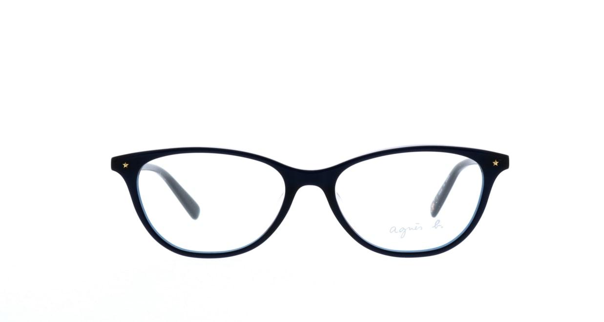 アニエスベー 50-0015-1 [黒縁/オーバル]