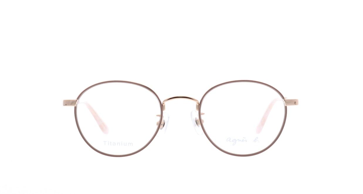アニエスベー 50-0011-1 [メタル/丸メガネ/肌色]