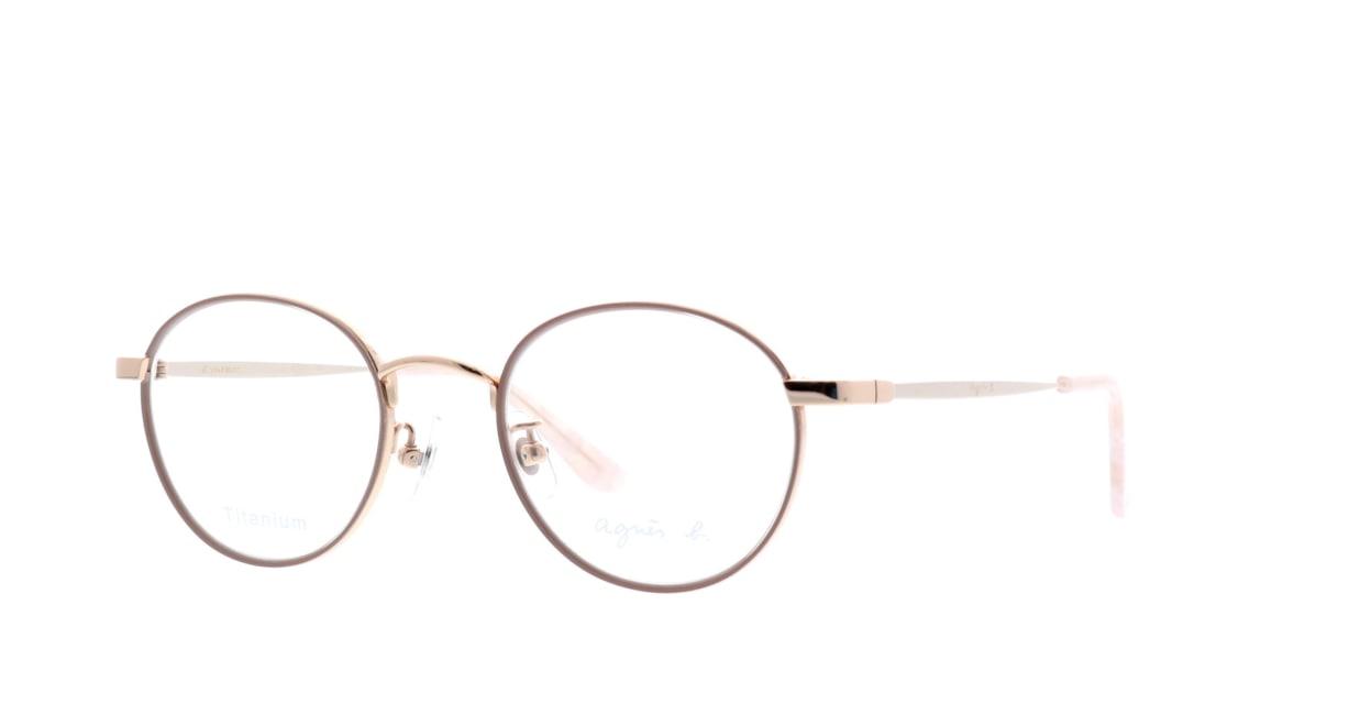 アニエスベー 50-0011-1 [メタル/丸メガネ/肌色]  1