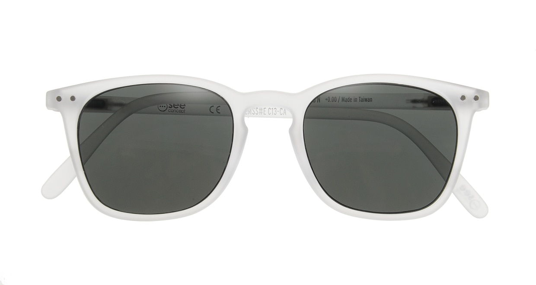 イジピジ サングラス #E-SUN WHITE [ウェリントン]  3
