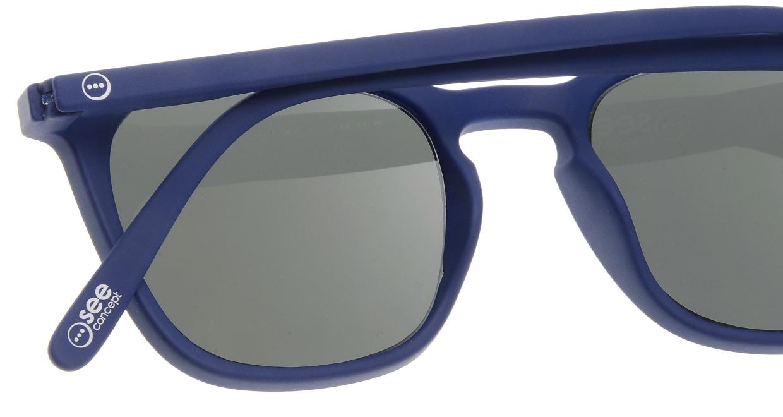 イジピジ サングラス #E-SUN NAVY BLUE [ウェリントン]  4