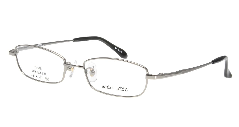 エアーフィット AF-6111-C-1 [メタル/鯖江産/スクエア/シルバー]