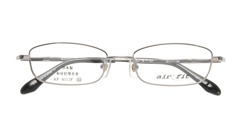 エアーフィットAF-6111F-C-1-52 [メタル/鯖江産/スクエア/シルバー]  3